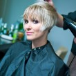 Making new hairstyle — Stock Photo