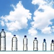 Different water bottles — 图库照片
