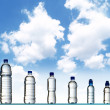 Stock Photo: Different water bottles