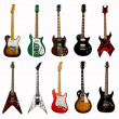 Stock Photo: Collection of electric guitars