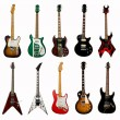 Collection of electric guitars — Stock Photo #19686237