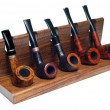 Stock Photo: Collection of smoking pipes