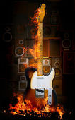 Electiric guitar — Stock Photo