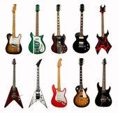 Collectie van elektrische gitaren — Stockfoto