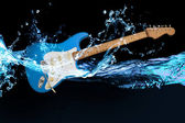 Blue electric guitar — Stockfoto