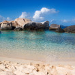 Virgin gorda tropical beach — Stock Photo