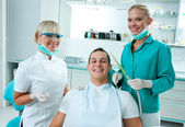 Scene in dentist office — Stock Photo