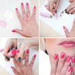 Stock Photo: Nail stamping precudure