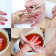 Foto Stock: Womhand beauty treatment