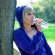 Woman drinks water — Stock Photo #19722941