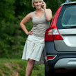 Woman with mobile phone — Stock Photo #19723485