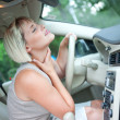 Stock Photo: Cooling in car