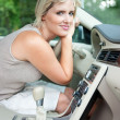 Stock Photo: Cooling in the car