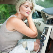 Cooling in the car — Stockfoto