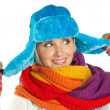 Stock Photo: Womin winter clothes
