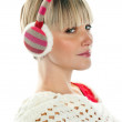 Stock Photo: Womin winter clothes with earmuff