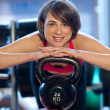 Woman in gym — Stock Photo #19724117