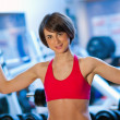 Woman in gym — Stock Photo #19724287