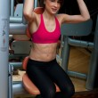 Woman workout in gym — Stock Photo #19724293