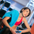 Stock Photo: Womin gym
