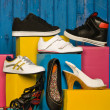 Stock Photo: Various shoes