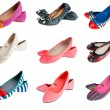 Collection of woman summer shoes — Stock Photo #19725757
