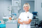 Woman dentist — Stock Photo