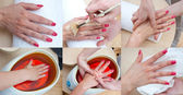 Woman hand beauty treatment — Stock Photo