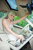 Woman driver — Stock Photo
