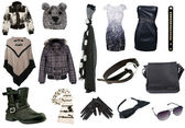Collection of woman clothes — Stockfoto