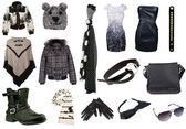 Samling av kvinnakläder — Stockfoto