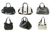 Woman handbag collection — Stock Photo