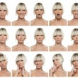 Woman expressions — Stock Photo