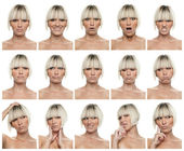 Woman expressions — Foto Stock