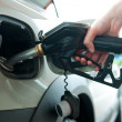 Refueling gas in petrol station — Stock Photo #19794445