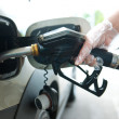 Refueling gas in petrol station — Stock Photo