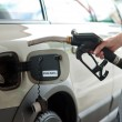 Stock Photo: Refueling gas in petrol station