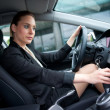 Woman driving car — Stock Photo #19795591