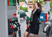 Yüksek benzin fiyatı — Stok fotoğraf