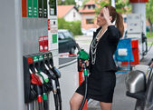 High gas price — Stock Photo