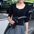 Woman in petrol station — Stock Photo #19800827