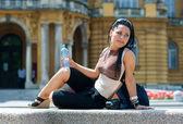 Woman tourist — Stock Photo