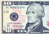 Ten dollar bill — Stock Photo