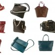 Woman purse collection — Stock Photo