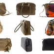 Woman purse collection - Stock Photo