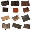 Leather wallets — 图库照片