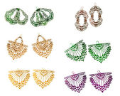 Woman earring collection — Stock Photo