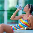 Woman drinking water — Lizenzfreies Foto