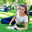 Teen girl with book — Stock Photo #20340983