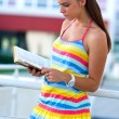 Teen girl with book — Stock Photo